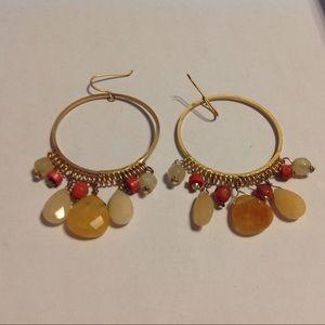 Gold Tone Beaded Earrings